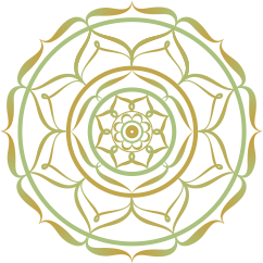 Mandala Symbol Grün Gold